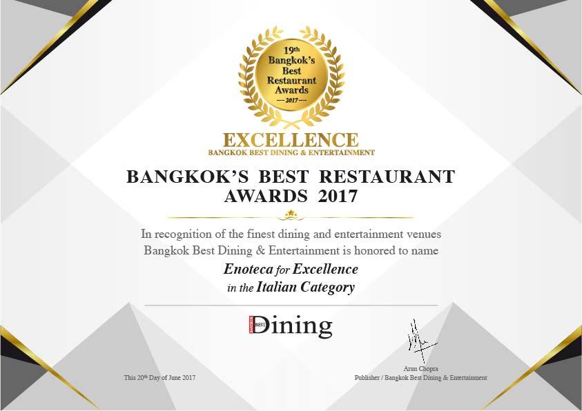 Best Italian Restaurant Bangkok Enoteca Italiana