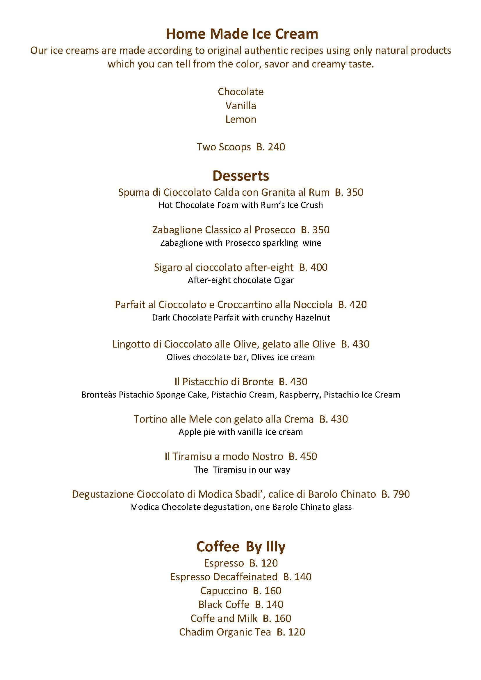 Enoteca Italiana Bangkoks Best italian Restaurant menu